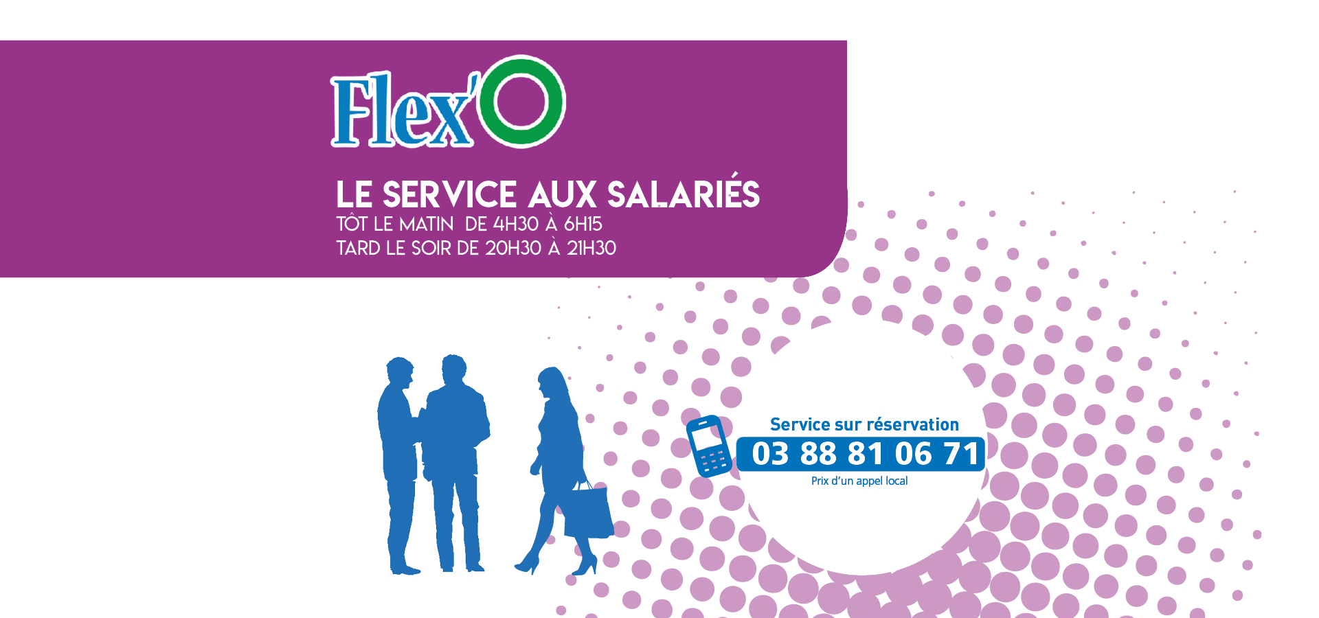 Le service Flex'O dédié aux salariés depuis et vers tous les arrêts Pass'O !