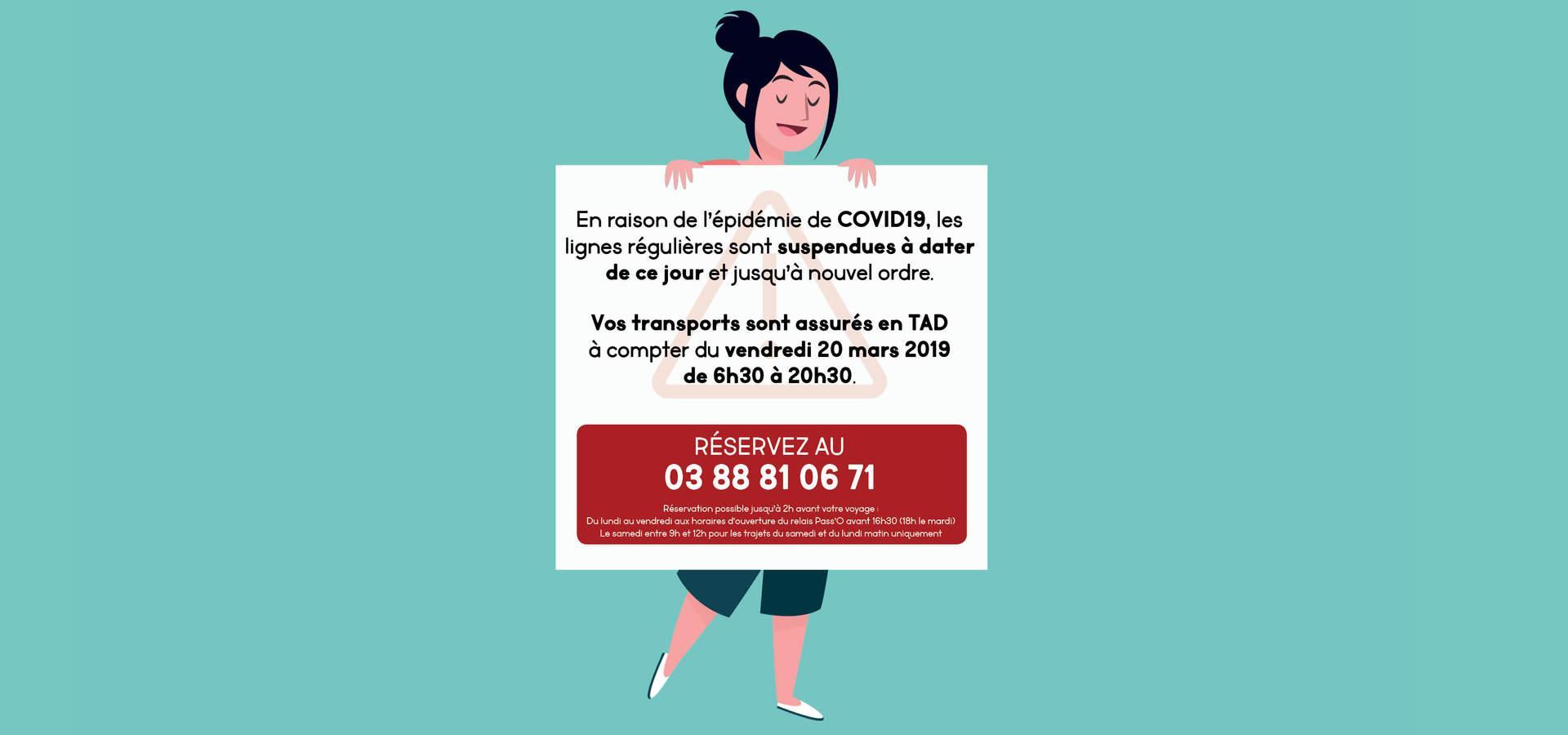 Services en Transport à la Demande (TAD) à partir du 20 mars
